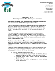 Fiscal Impacts for Mill Planning Area – Rev 09-09-2011