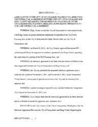 Resolution 10-24-2011 Approving ILA and Authorizing Mayor to Sign