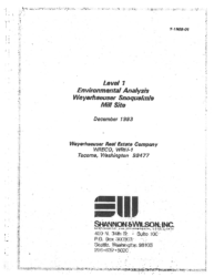 Level 1 Environmental Analysis December 1993