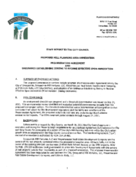 Staff Report to City Council re Proposed Mill Planning Area Annexation